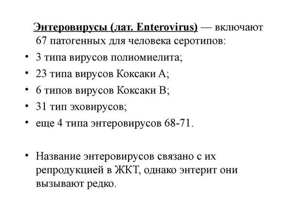 энтеровирусы