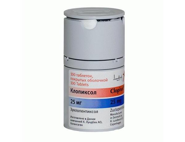 клопиксол таблетки 25 мг