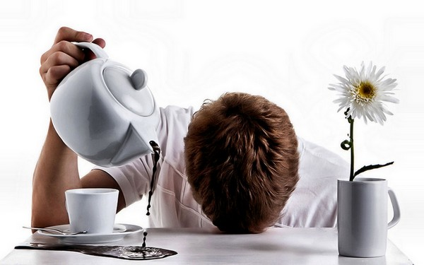кофе пролит