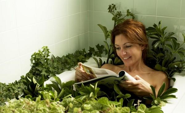 ванная с травами